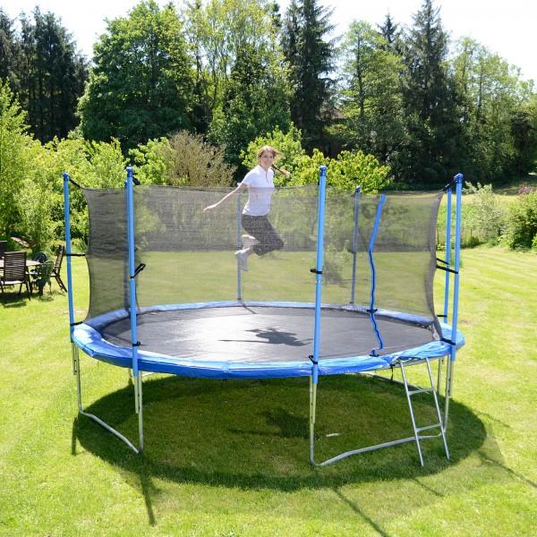 sport tiedje tuintrampoline 370 cm incl veiligheidsnet en. Black Bedroom Furniture Sets. Home Design Ideas