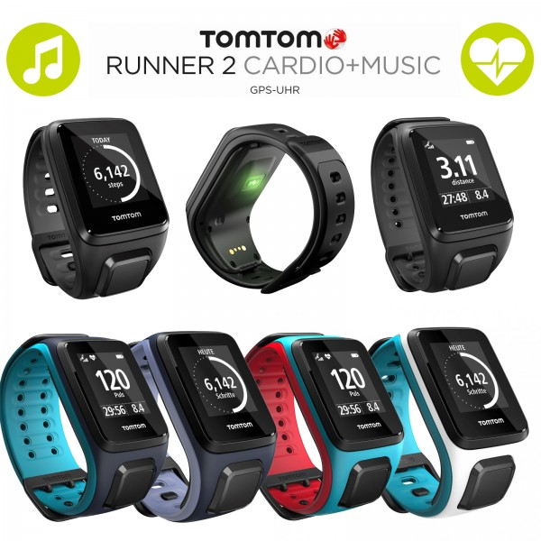 tomtom runner 2 cardio music montre de sport gps acheter tester t fitness. Black Bedroom Furniture Sets. Home Design Ideas