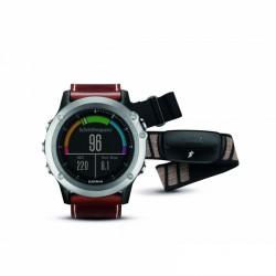 Garmin GPS-sportovní hodinky Fenix 3 Sapphire stříbrné + kožený pásek