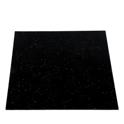 Taurus black rubber floor mat