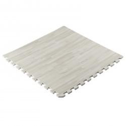 Taurus Puzzelmattenset (4 stuks) wit houtpatroon