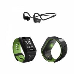 TomTom Runner 3 Cardio + Music + Ohrhörer, schwarz grün