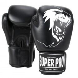 Super Pro Boxhandschuh Warrior Leder schwarz/weiß