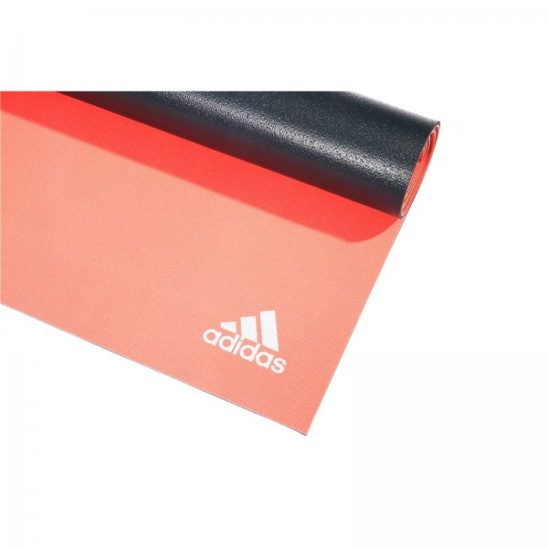 adidas 6mm Dbl Side Yoga Mat, fl red / dark grey