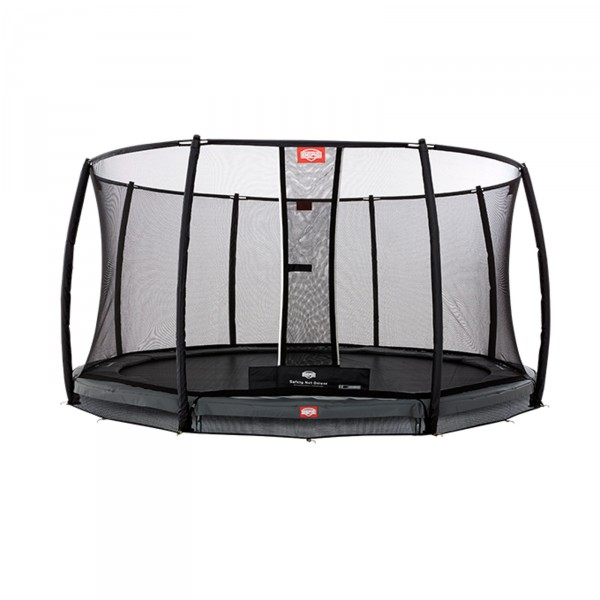 Berg InGround-trampoline Champion Grey + veiligheidsnet Deluxe