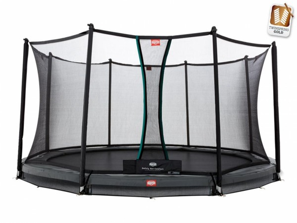 Berg InGround-trampoline Champion Grey incl. veiligheidsnet Comfort