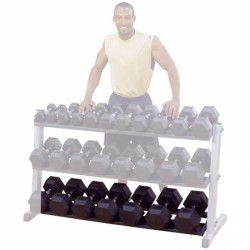 : Body-Solid optionele derde ligger voor Body-Solid Dumbbell Rack GDR60