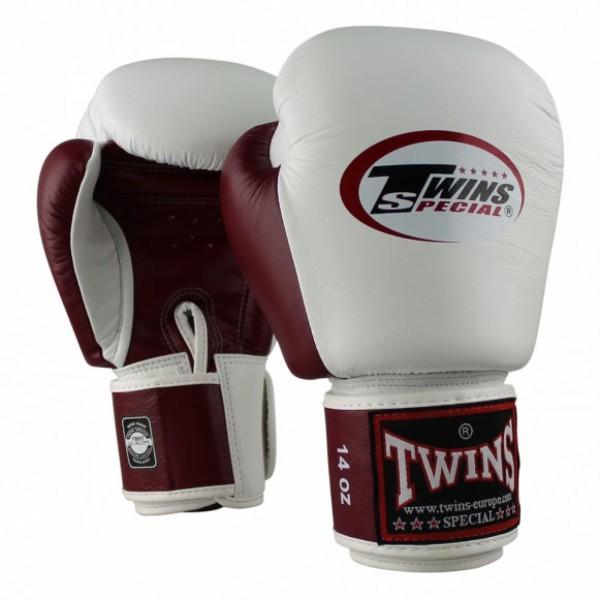 Twins BGVL-3 Bokshandschoenen wit/wijnrood