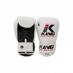 Booster King PRO BOXING - Bokshandschoenen wit/zwart