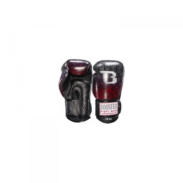 Booster Bokshanschoenen Pro Snake rood/zilver | Kickboksen, Vechtsport