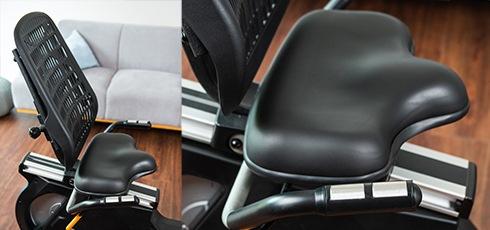 Vélo semi-allongé cardiostrong BC60 Plus de confort grâce au dossier