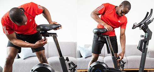 Vélo d'appartement cardiostrong BX50 Selle confortable, longues séances d'entraînement