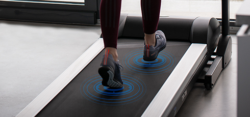 Figure: Running with pleasant shock absorption