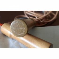 Excellerator Springtouw houten handvat (leer)