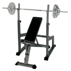 Finnlo by Hammer halterbank incl. Barbell trainingsstation en gewichten Detailbild