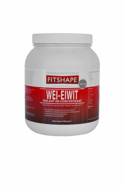 Fitshape Eiwitshake 1000 gr | Eiwit Wei-eiwit