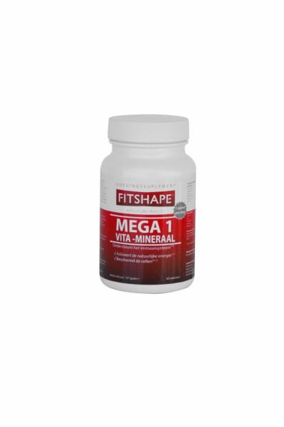 Vitaminen en Mineralen Fitshape Mega 1 | Voedingssupplement