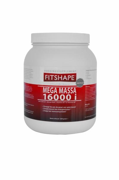 Fitshape Mega Massa 16000 i 1200 gr   Eiwitshake