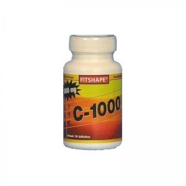 Fitshape Classic vitamine C 1000 mg 50 tabletten | Voedingssupplement