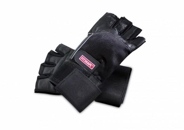 Fitshape Leren fitness handschoenen met polsbandage (WristWrap)