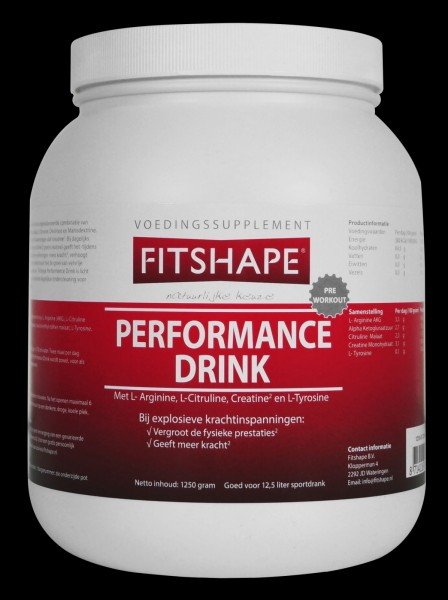 Fitshape Performance Drink 1250 gr   Energie Shake