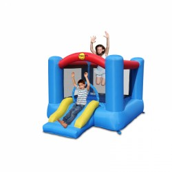 Happy Hop Bouncy Castle with slide and basketball ring