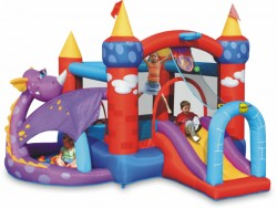 Bouncy castle Dragon's castle with slide