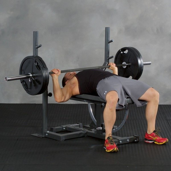 Ironmaster vægtstangsstativ til Super Bench træningsbænk