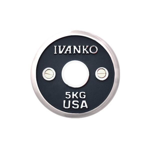 Disque de musculation Ivanko chrome calibré 50 mm