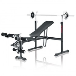 Kettler weight bench Primus 100 incl. curlpult, dumbbell and barbell set Detailbild