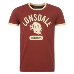 Pánské triko Lonsdale Ringer Tee Detailbild
