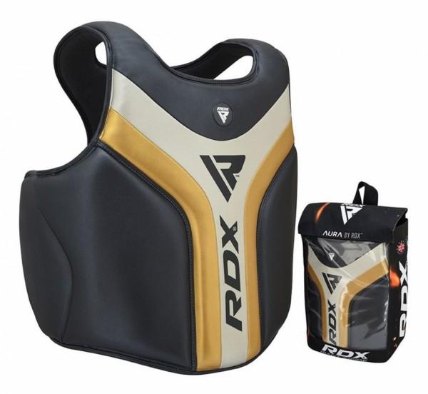 RDX Sports T17 Aura Body Protector zwart/goud | Boksbescherming, chest guard