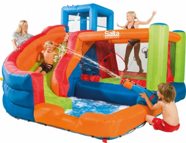 Salta bouncy castle bounce and slide best buy at t fitness for Happy hop clown bouncy castle