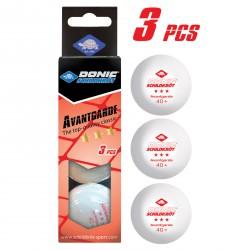 Balles de tennis de table Donic-Schildkröt 3*** Avantgarde, set de 3
