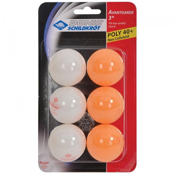 Balles de tennis de table Donic-Schildkröt 3étoiles Avantgarde Poly