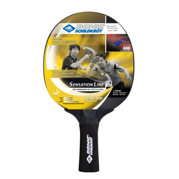 Donic-Schildkröt table tennis bat Sensation 500, concave