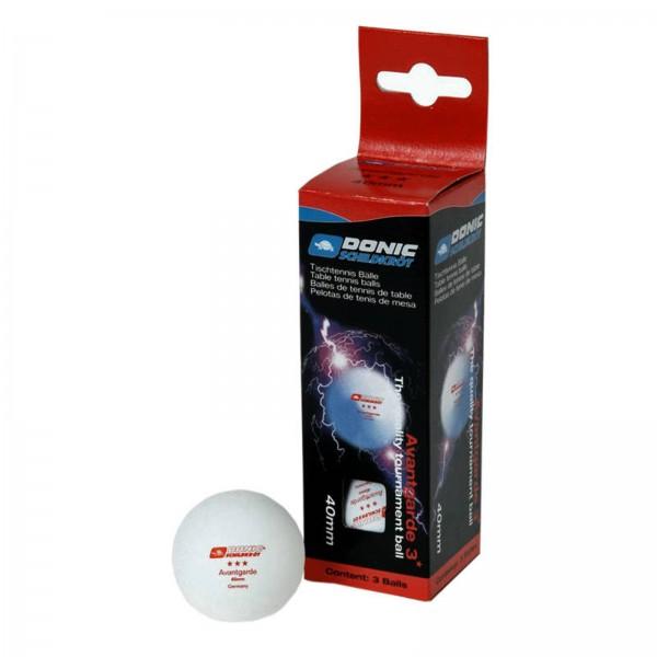 Donic-Schildkröt tafeltennisbal 3-sterren Avantgarde pak van 3