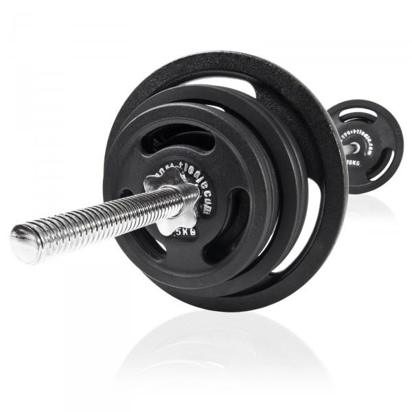 Barre de musculation Sport-Tiedje et disques 60 kg