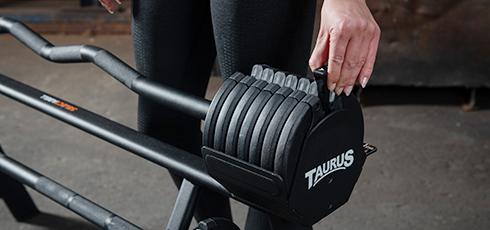 Barre curl / droite Taurus Selectabell Moins de pause, plus d'efficacité