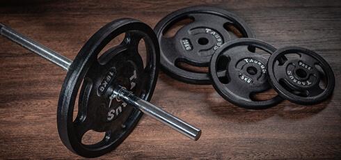 Figure: Robust vægtstang og skiver
