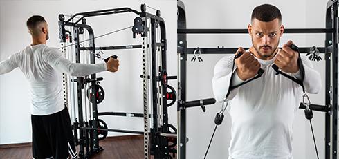 Cage à squat Taurus Multi Smith Double poulie réglable