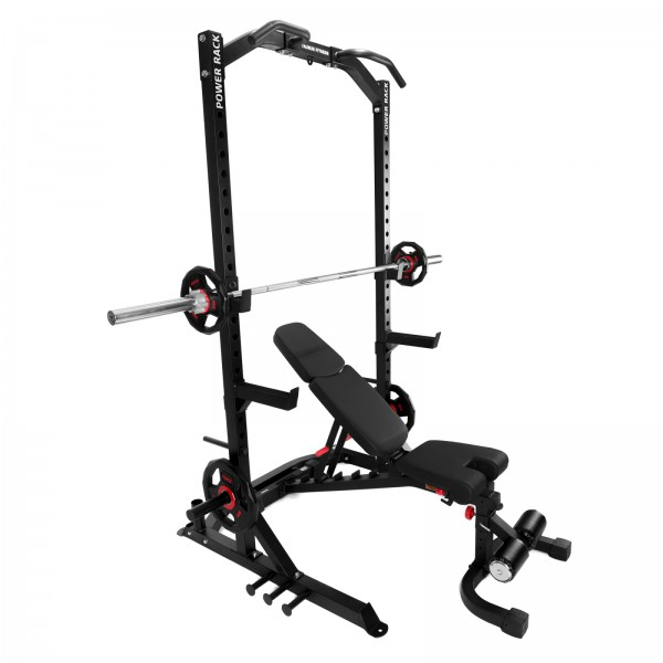 Taurus Power Rack + Taurus F.I.D. commercial weight bench B990