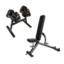 Taurus weight bench B900 + SelectaBell Set purchase online now