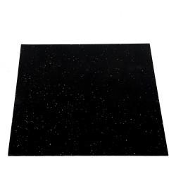 Taurus gulvmåtte, sort gummi