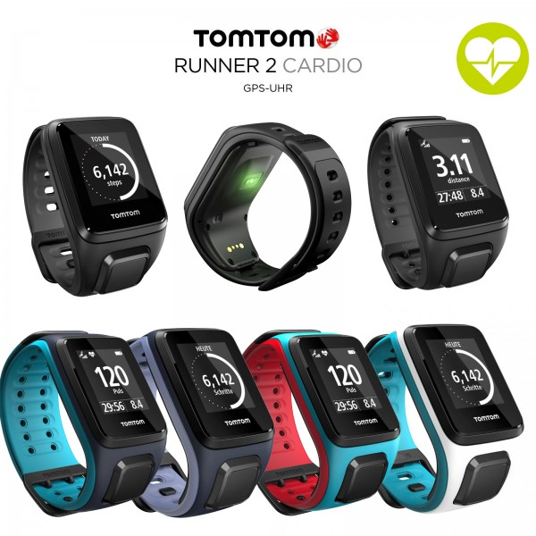 tomtom runner 2 cardio montre de sport gps acheter avec 62. Black Bedroom Furniture Sets. Home Design Ideas