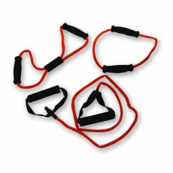 Tunturi Tubing Set with Grip, Heavy, Red