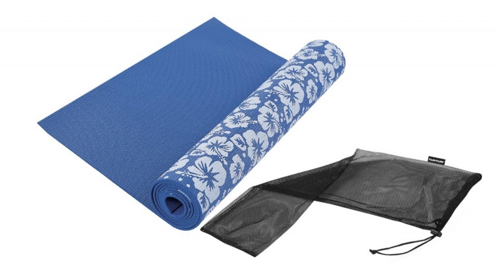 Tunturi Yogamat Met Print Blauw Voordelig Kopen Fitshop
