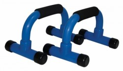 Tunturi Push Up Bar PVC Zwart-Blauw