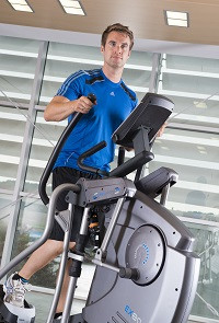 The cardiostrong elliptical cross trainer EX80 in use