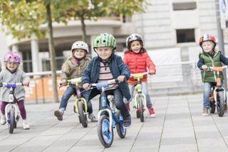 Children on Kettler balance bikes
